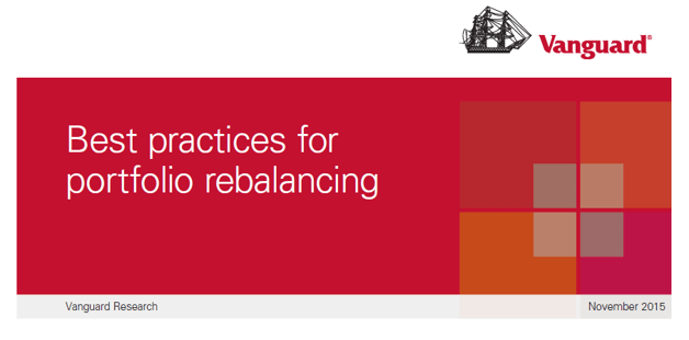 Best practices for portfolio rebalancing