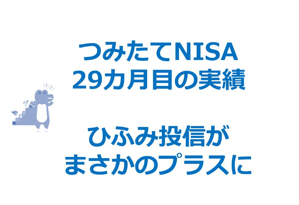 つみたてNISA 積立投資29カ月目の運用実績